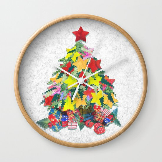Santa's Work is Done Wall Clock