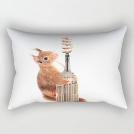 Squirrel-zilla Rectangular Pillow