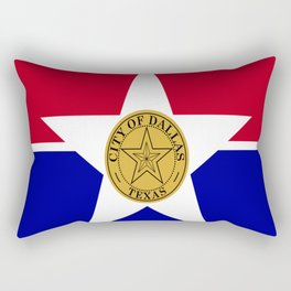 American cities-  Flag of Dallas. Rectangular Pillow