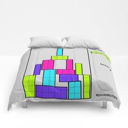 Level 1 blue Comforters