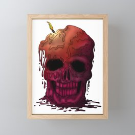 Skull Candle Framed Mini Art Print
