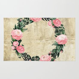Wreath #Rose Flowers #Royal collection Rug