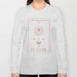 Le Soleil or The Sun Tarot White Edition Long Sleeve T-shirt