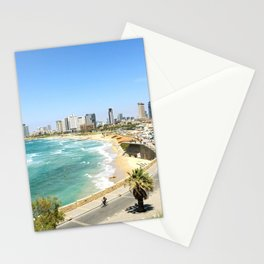 Tel Aviv from Old Jaffa and the Jaffa Port, Israel Stationery Cards
