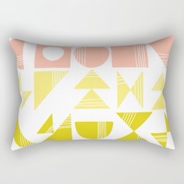 Organic Abstract Shapes in Soft Pastel Colors Rectangular Pillow