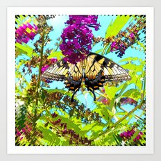 Yellow Butterfly Transparent in the Sun Art Print
