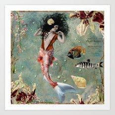 She lives in the deep blue sea. Art Print