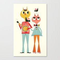 Cat Couple Canvas Print