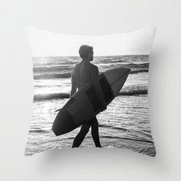 Surf Man Throw Pillow
