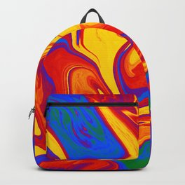 Gay Pride Abstract Marbled Colors Backpack