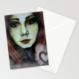 Misted Window Girl Stationery Cards