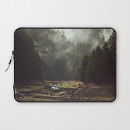 Foggy Forest Creek Laptop Sleeve