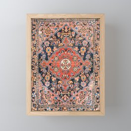 Djosan Poshti West Persian Rug Print Framed Mini Art Print