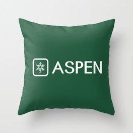 Snowflake: Aspen, Colorado Throw Pillow