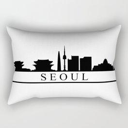seoul skyline Rectangular Pillow