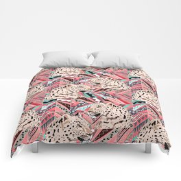 leopard on ethnic pattern. Comforters