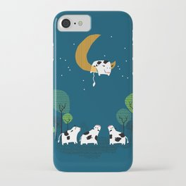 A cow jump over the moon iPhone Case