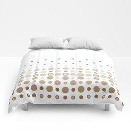 Dot Escalation // Taupe + Blues Comforters