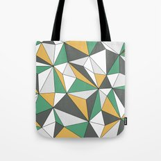 Geo - orange, green, gray and white. Tote Bag