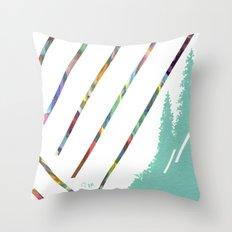 Green & Brown Throw Pillow