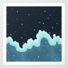 Snowfall Galaxy Art Print