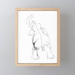 Elephant Sketch Framed Mini Art Print