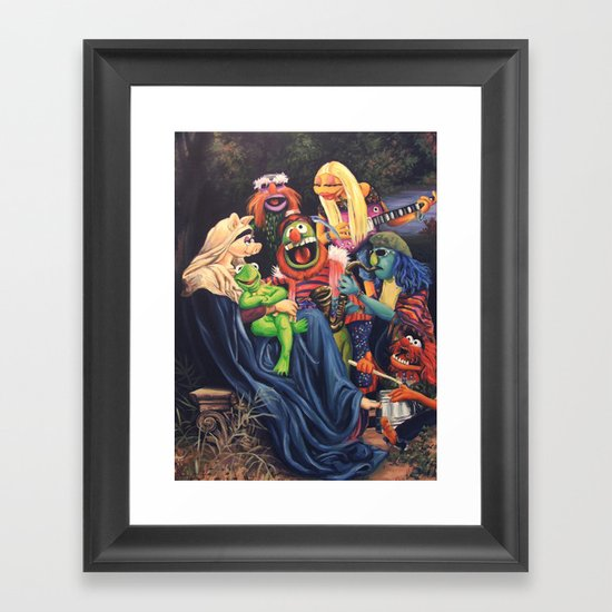 Song Of The Electric Mayhem Framed Art Print