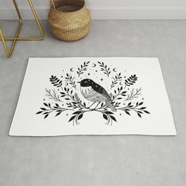 A Bird with Seven Moons Rug