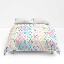 Hair Scissors Pastel Pattern Comforters