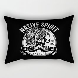 native spirit motorcycle Rectangular Pillow