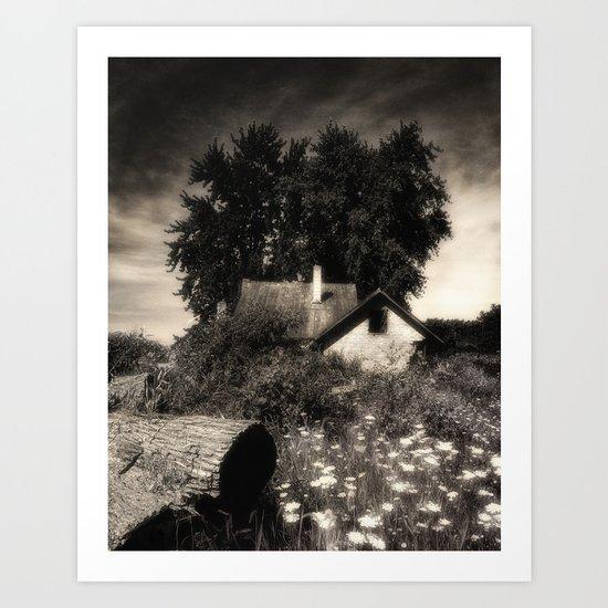 Moody abandon farm Art Print
