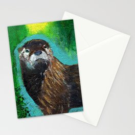 Otter Glow Stationery Cards