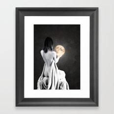 Moon Contemplation Framed Art Print