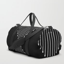Geo / Black Duffle Bag