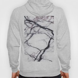 Abstract blush pink black white modern marble Hoody
