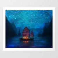 minimal Art Prints featuring Our Secret Harbor by Aimee Stewart