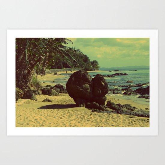 Puerto Rico Heart along the Beach Art Print