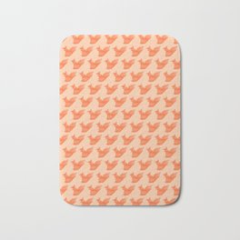 Allergic to Nuts - Origami Orange Squirrel Bath Mat