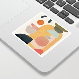 Modern Abstract Art 70 Sticker