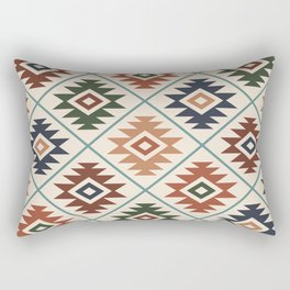 Aztec Symbol Pattern Col Mix Rectangular Pillow