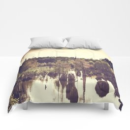 Dead Lakes With A Vintage Twist  Comforters