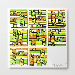 Communication & Miscommunication - Modular I (whole) Metal Print