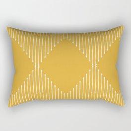 Geo / Yellow Rectangular Pillow