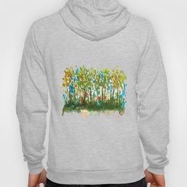 Silent Woods, Abstract Watercolors Landscape Art Hoody