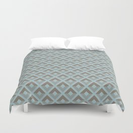 Two-toned square pattern Duvet Cover