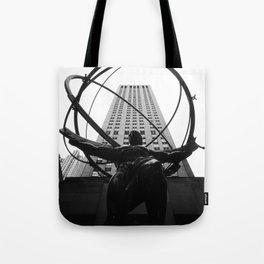 Atlas at the Rockefeller Center, New York Tote Bag