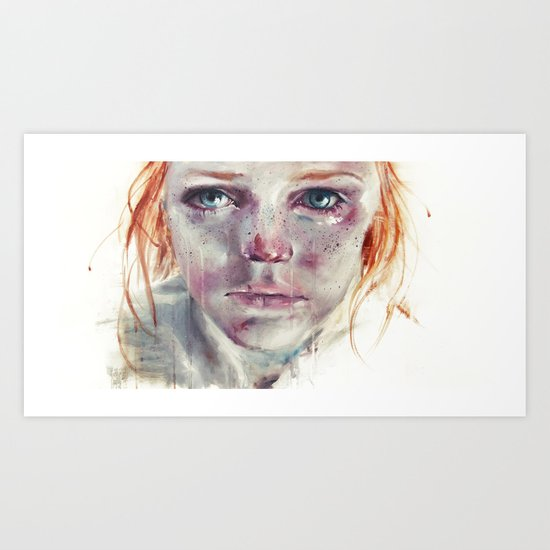 my eyes refuse to accept passive tears Art Print