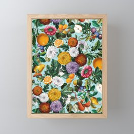 Summer Fruit Garden Framed Mini Art Print