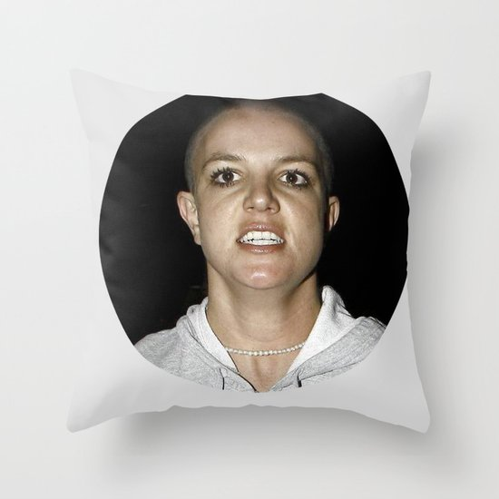 She Shaved Her Head For Our Sins Throw Pillow