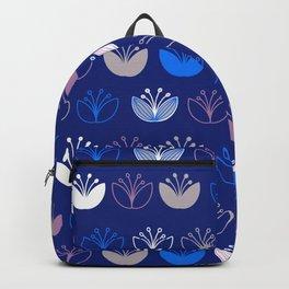 Blue Tulip Bloom Backpack